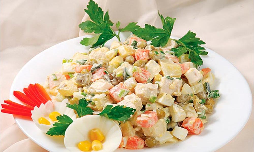Салат столичный классический рецепт с ветчиной